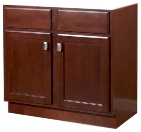 "Jsi Craftsman Bristol Cherry 24"" Bathroom Vanity Cabinet 2 ..."