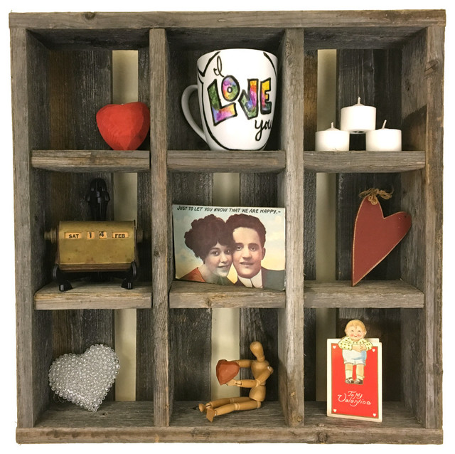 Small Reclaimed Wood 9 Cubby Hole Cubby Rustic Display