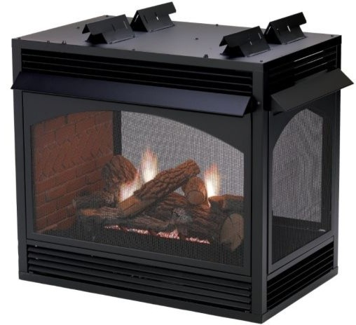 Vail 36 Mv Premium Peninsula Vent Free Fireplace Liquid Propane Indoor Fireplaces By Shop