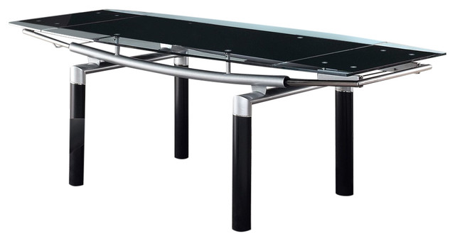 dining table black legs black glass contemporary dining tables