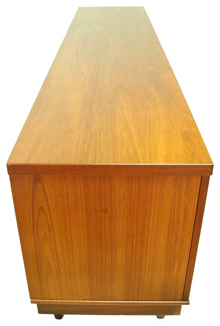 Large Mid Century Modern Credenza, Media Console with ...