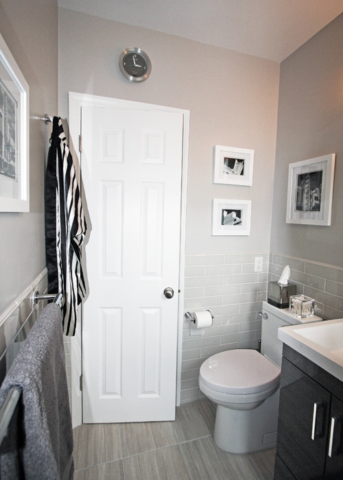 Bathroom Designs No Tiles nyc small bathroom renovation: before/after