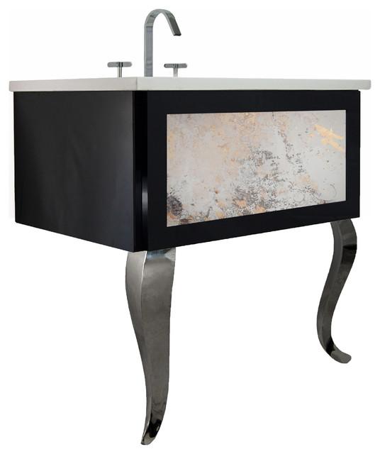 Bathroom Vanity, Antique Mirror Insert - Contemporary ...