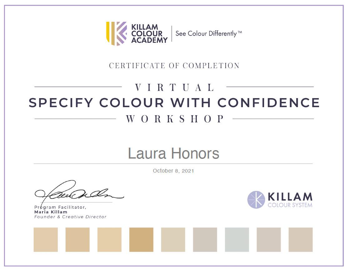 Color Certificate