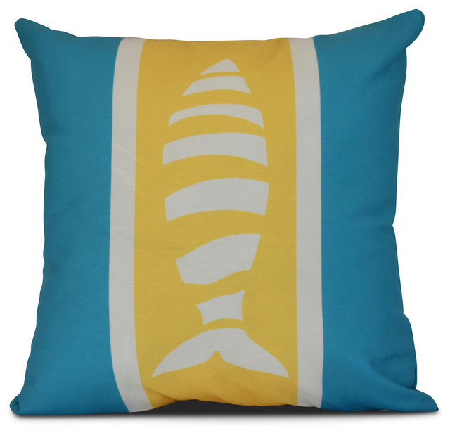 Puzzle Fish, Animal Print Outdoor Pillow - Contemporary - Outdoor Cushions And Pillows - by E by ...
