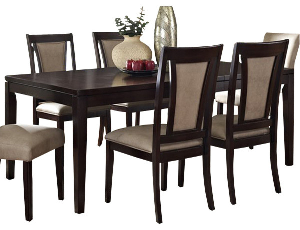 Steve Silver Wilson Rectangular Extension Dining Table In Espresso Transitional Tables
