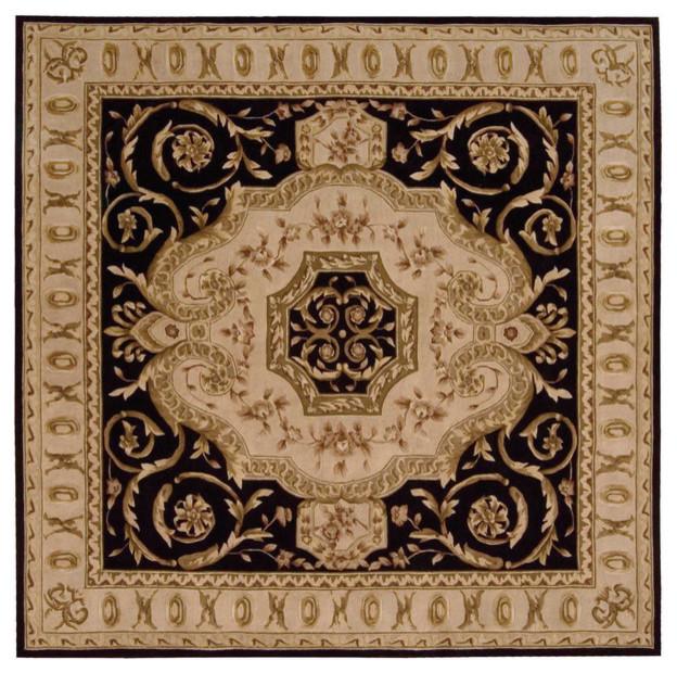 Nourison Versailles Palace Vp14 Black Area Rug Victorian