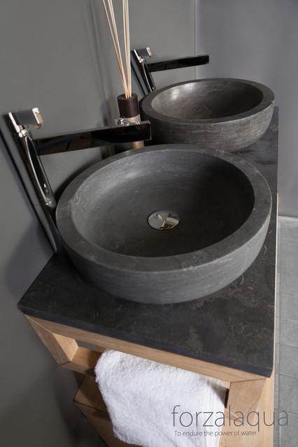 Unique Natural Stone Basin Contemporary Bathroom Sinks