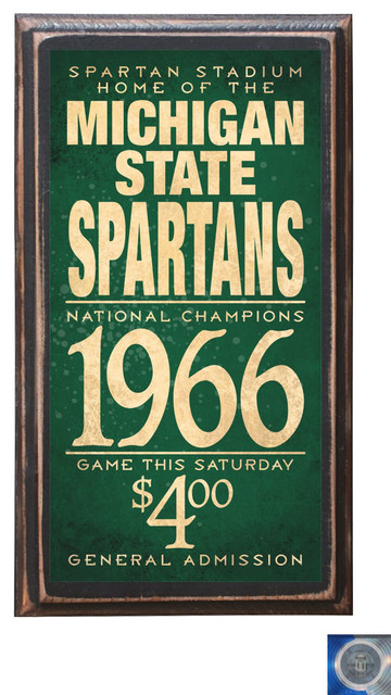 Michigan State Spartans Home Decor Wall Art Plaque Sign Gift Present Football