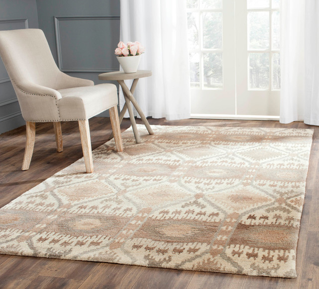 Safavieh Rosemonde Hand-Tufted Rug, Multicolored And Natural, 9&x27;x12&x27;.