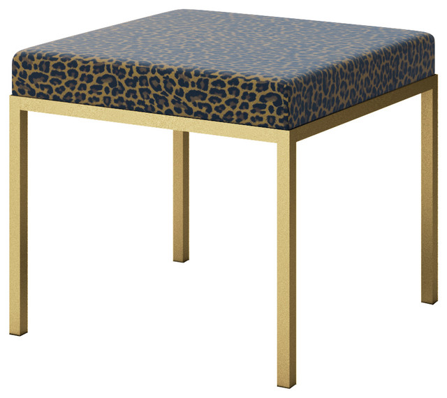 Leopard Cheetah Cat Animal Skin Print Accent Bench Contemporary Footstools And Ottomans By