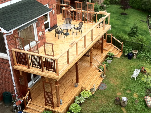 Cedar Decking Traditional Porch Toronto By Forest