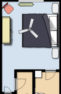 Ceiling fan light placement in bedroom - What size fan should i get for my bedroom ...