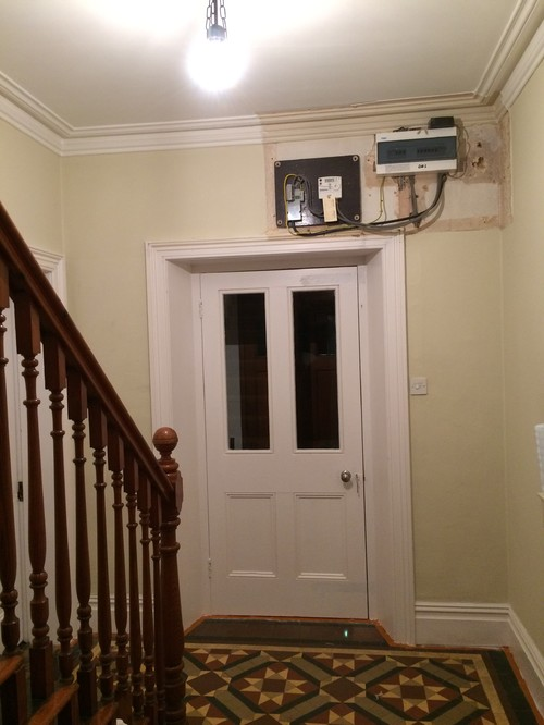home design how best to hide these electrics above our victorian front door? how to hide fuse box at edmiracle.co