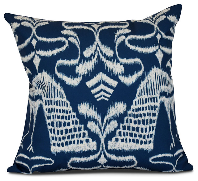 Crown, Animal Print Outdoor Pillow - Contemporary - Outdoor Cushions And Pillows - by E by Design