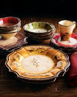 OperaNova Four  Forum  Dinner Plates - Traditional - Dinner Plates - by Horchow & OperaNova Four