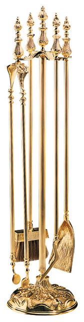 """hand-cast brass fireplace tools 7-1/2""""W x 7-1/2""""D x 32-1/2""""H hand-crafted in Italy Solid cast brass fireplace tools set in antiqued finish. Fireplace tools set"""