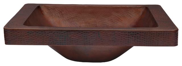 Novatto Santa Cruz Copper Bathroom Sink And Oil Rubbed Bronze Strainer Drain.