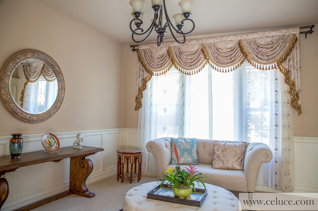 Valance Curtains With Swags And Tails By Traditional Seattle By Celuce