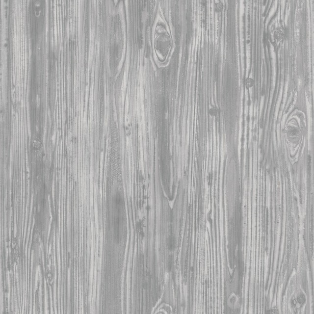 Woodgrain Textured Self Adhesive Removable Wallpaper Pewter 56 37 Sq Ft