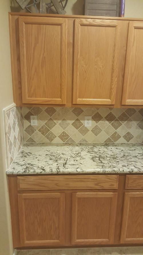 this granite and backsplash but we really hate it now backsplash