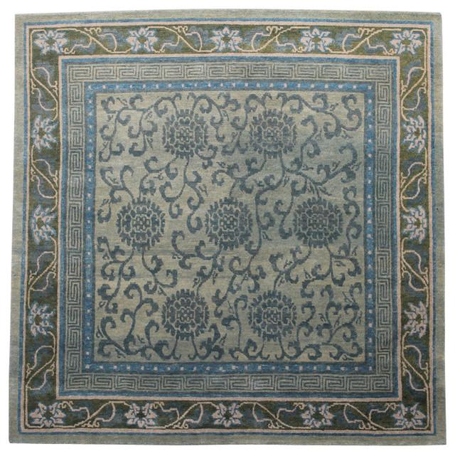 Traditional Area Rugs: Traditional Tibetan Rug, 6x6