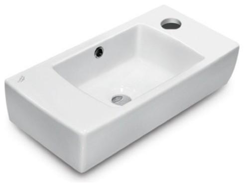 20 Ceramic Wall Mounted Or Self Rimming Sink.