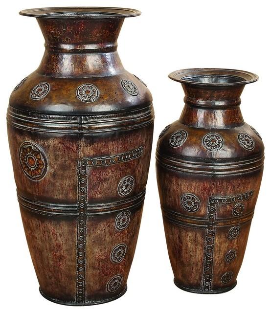 Mei 2 Piece Metal Vase Set Mediterranean Vases By Brimfield May