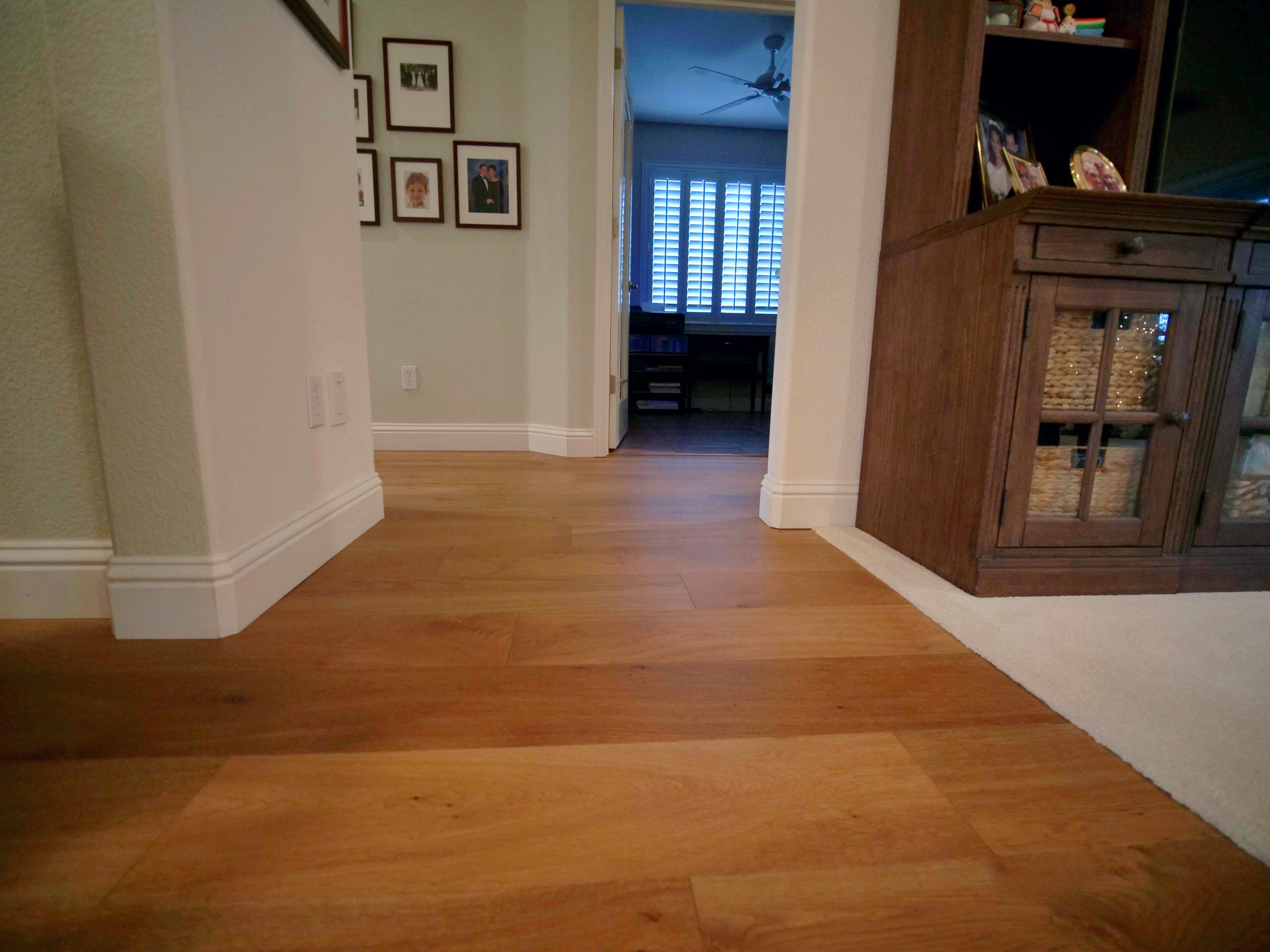 Living Room Entryway with Hardwood Flooring