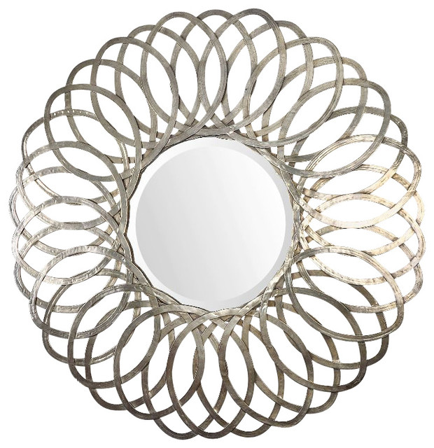 d33b886fddd Uttermost Adler Metal Round Mirror - Transitional - Wall Mirrors - by  Better Living Store