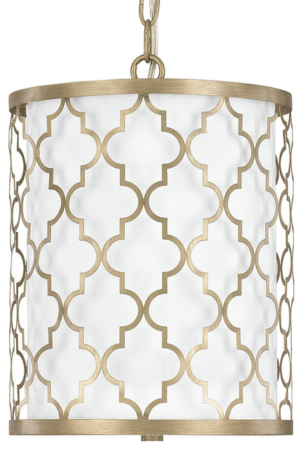 Capital Lighting Ellis Brushed Gold Transitional Pendant Light W/ 2 Light 60w.