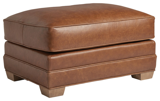 Terrific Benton Leather Ottoman Pdpeps Interior Chair Design Pdpepsorg