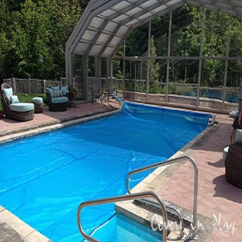 Protect your pool from rain and snow with stylish pool for Kenny pool design