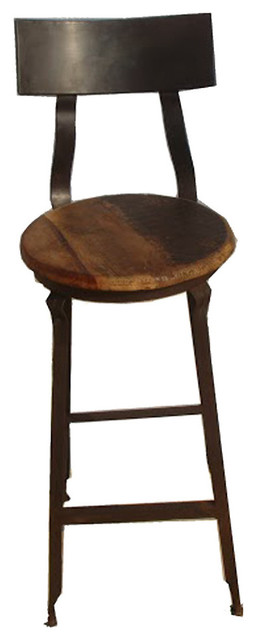 Reclaimed Wood and Iron Barstool Industrial Bar Stools  : industrial bar stools and counter stools from www.houzz.com size 256 x 640 jpeg 25kB