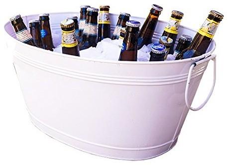 Great White Galvanized Beverage Tub Modern Ice Tools