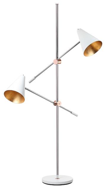 Safavieh Reed 71-Inch High Floor Lamp, White.