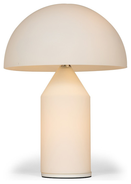 Apollo Frosted Glass Table Lamp Contemporary Table Lamps