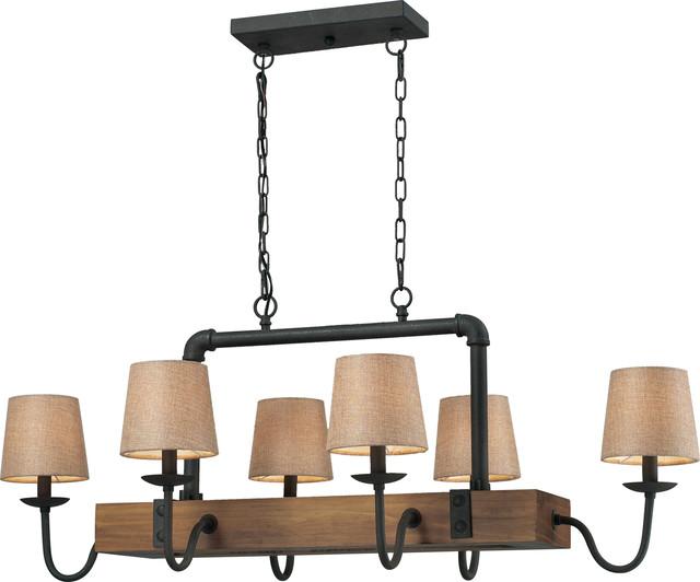 elk lighting early american 6 light chandelier vintage