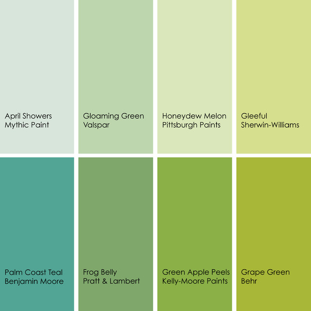 Light Green Paint bathed in color: when to use green in the bath