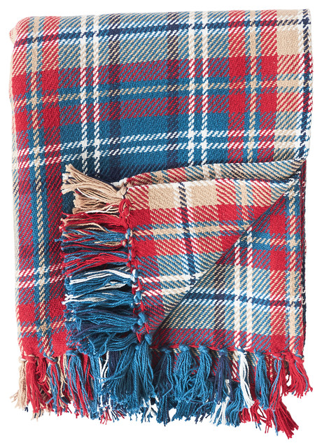 Rockwell Plaid Throw.
