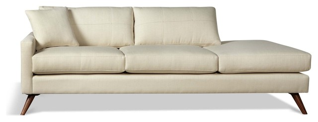 Dane One Arm Sofa With Chaise Midcentury Sofas By True Modern