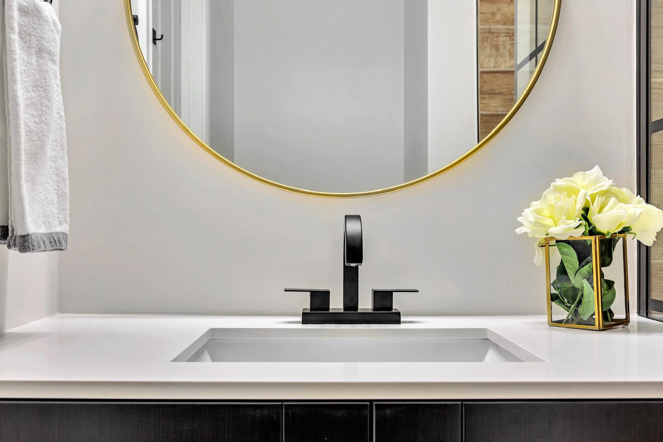 Industrial Glam Bathroom