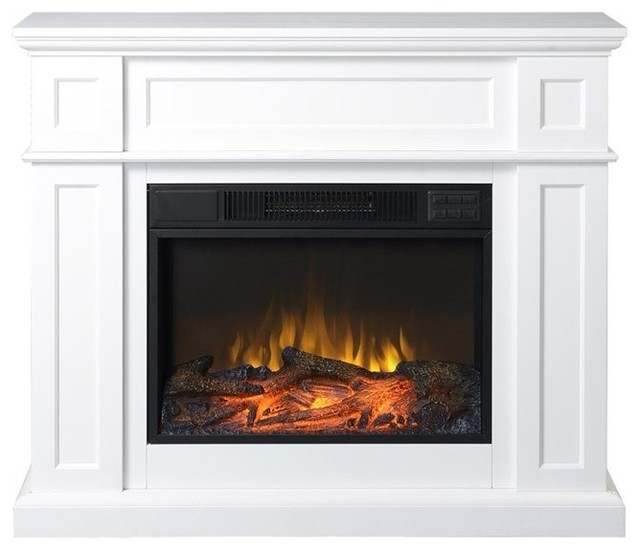 Homestar 41 Wide Electric Fireplace Mantel White
