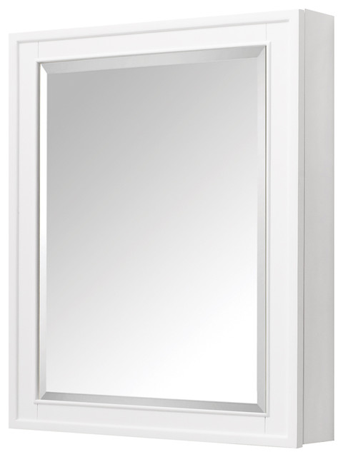 "Avanity Madison 28"" Mirror Cabinet, White Finish."