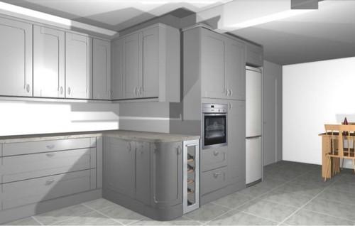Awkward kitchen shape help for Awkward shaped kitchen designs