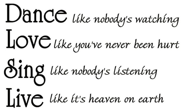 Dance Like Nobodys Watching Inspirational Wall Quotes
