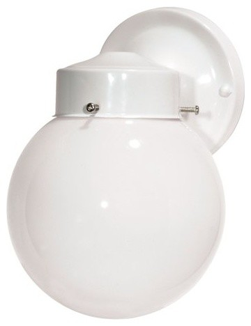 Nuvo Lighting 76 704 1 Light 6 Porch Light With White Globe Shade Transitional