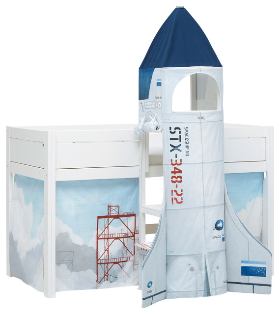 Astronaut Rocket Spaceship Twin Loft Bed Contemporary Kids Beds