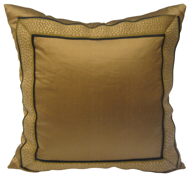 Traditional Throw Pillows : Dupioni Silk Pillow with Designer Braid - Traditional - Decorative Pillows - by KH Window ...