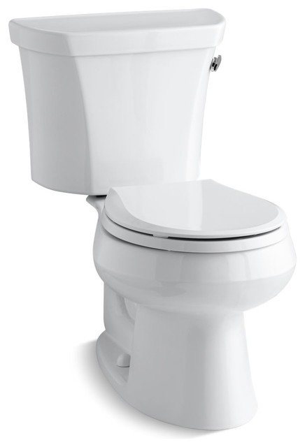 Wellworth 2-Piece Round-Front 1.28 GPF Toilet, White